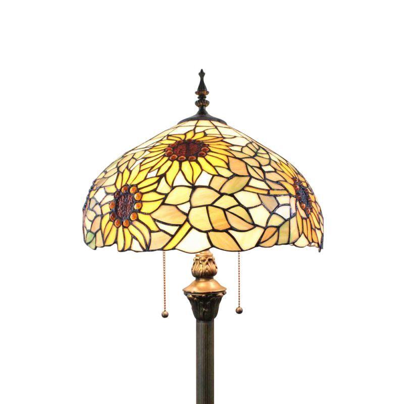 Tiffany Stehlampe Sonnenblumen Design 2 Flammig Im