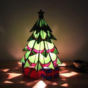 Tischleuchte Tiffany Stil Weihnachtsbaum Gestaltet 1 flammig
