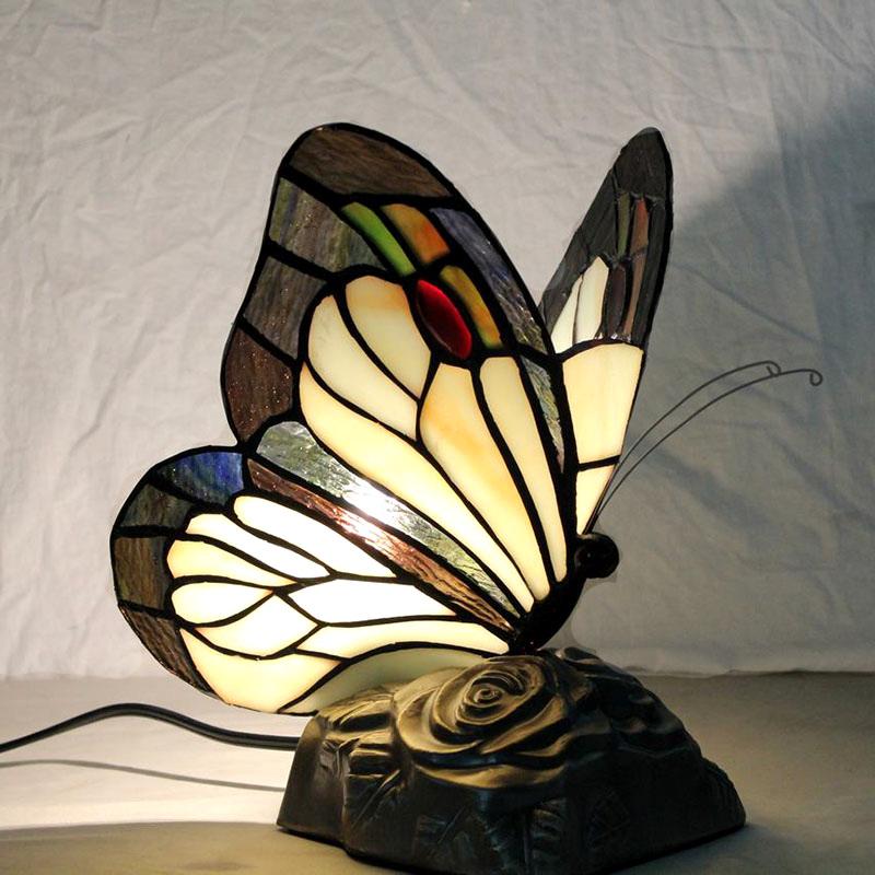 0d89649807c31e Tischleuchte Tiffany Stil Schmetterling Gestaltet 1 flammig