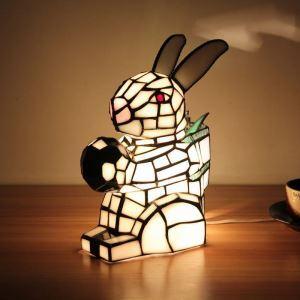 Tischlampe Tiffany Stil Hasen Gestaltet 1 flammig
