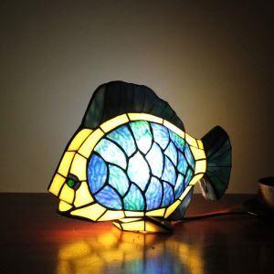 Tischleuchte Tiffany Stil Fisch Gestaltet 1 flammig