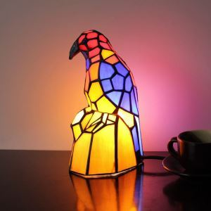 Tischlampe Tiffany Stil Vogel Design 1 flammig