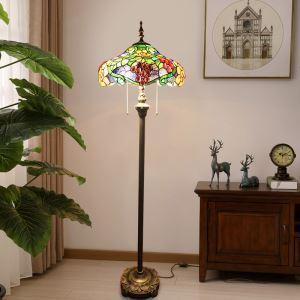 Stehlampe Tiffany Stil Traube Design im Schlafzimmer