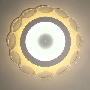 Deckenlampe Led Modern Weiß Sonne Design im Wohnzimmer