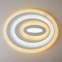 Deckenlampe Led Modern Weiß Oval Design im Wohnzimmer