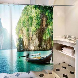 Schöner Duschvorhang von wunderbarer Landschaft Motiv Wasserdicht und Anti-Schimmel