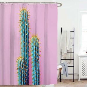 Duschvorhang Digitaler 3D Stoffdruck von Kaktus Modern hit color