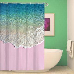 3D-Duschvorhang schöne Welle Landschaft Wasserdicht und Anti-Schimmel