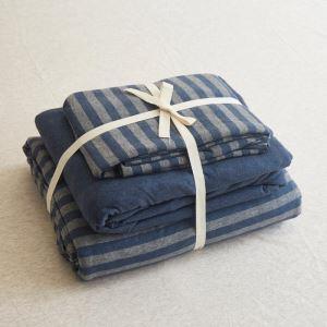 Bettwäscheset 4-teilig Streifen Baumwolle Nordeuropäischer Stil
