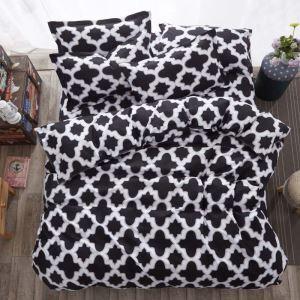 Moderne Bettwäsche-Set 4-teilig Geometrisches Muster Minimalismus für Jungen
