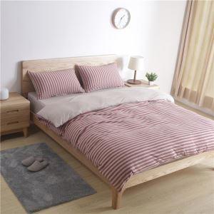 Bettwäscheset 4-teilig Streifen Muster Baumwolle Japanische Retro
