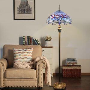 Stehleuchte Libelle Design im Tiffany-Stil 2 flammig