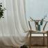 Zeige Details für Japanisch Gardine Unifarbe aus Leinen im Wohnzimmer
