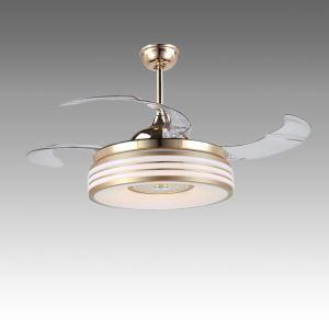 Deckenventilator mit Led Lampe Rund Design mit Fernbedienung