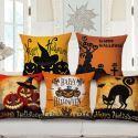 Kissenbezug Halloween lustiger Kürbis Design aus Baumwolle und Leinen