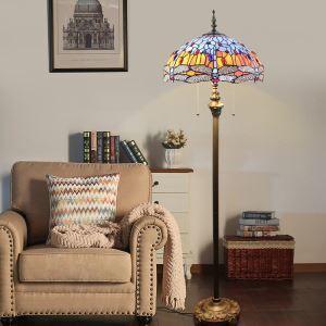 Tiffany Stehleuchte Libelle Design im Schlafzimmer