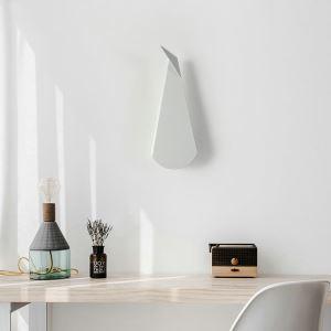 Led Wandleuchte Modern Pfau Design im Schlafzimmer