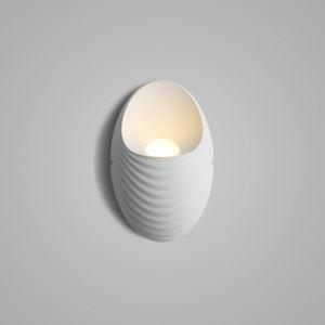 Led Wandleuchte Modern Schale Design in Weiß oder Gold