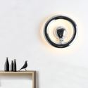 Led Wandlampe Kreis Design in Chrom aus Acryl
