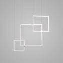 Led Pendelleuchte Eckig Design in Weiß für Schlafzimmer
