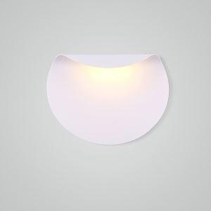 Led Wandleuchte Halbrund Design in Weiß für Schlafzimmer