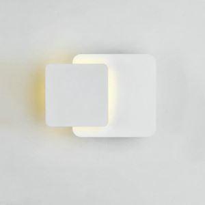 Led Wandleuchte Eckig Design in Weiß für Flur