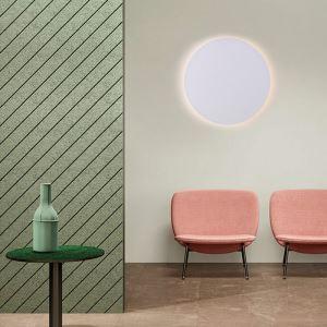 Led Wandlampe Kreis Design Weiß im Wohnzimmer