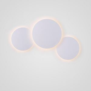 Led Wandleuchte Kreis Design in Weiß für Schlafzimmer