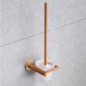 WC Bürstengarnitur mit Halter aus Holz