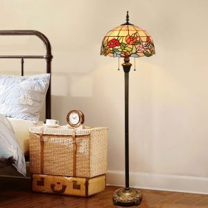 Stehlampe Blumenmalerei Design Tiffany-Stil