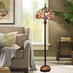 Stehleuchte Blumen Design für Schlafzimmer Tiffany-Stil