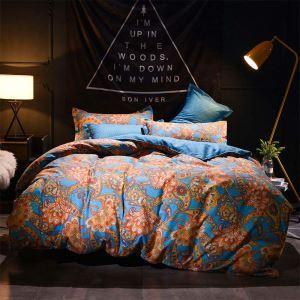 Amerikanische Stil Bettwäscheset Blumen Design aus Polyester 4er-Set