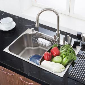 Einbauspüle Edehlstahl Modern Eckig für Küche