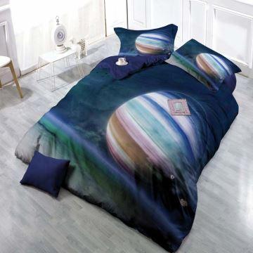 Moderne Bettwäsche Planeten Motiv Aus Polyester 4er Set
