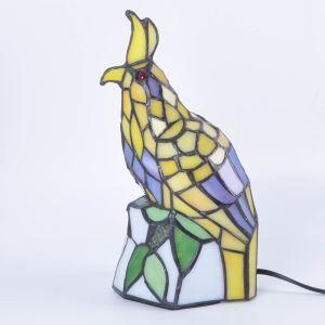 Tiffany Nachttischlampe Vogel Gestaltet 1 flammig im Schlafzimmer