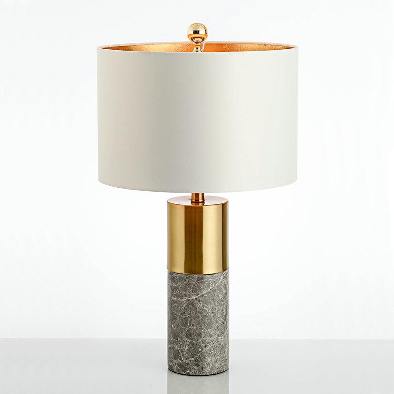 tischleuchte modern aus eisen marmor s ule design 1 flammig. Black Bedroom Furniture Sets. Home Design Ideas
