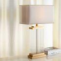 Tischleuchte Modern aus Eisen Glas 1 flammig im Schlafzimmer