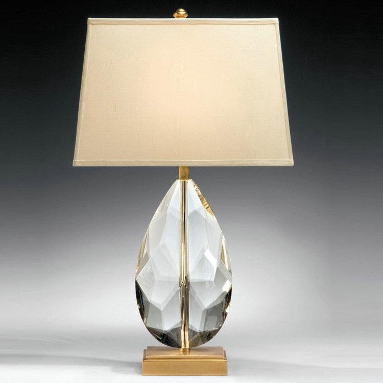 tischleuchte modern mit kristall fu ei design 1 flammig. Black Bedroom Furniture Sets. Home Design Ideas