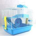 Hamsterkäfig Blau mit Futterschüssel Wasserflasche Rutsche