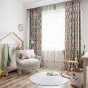 Moderner Vorhang Eule Design im Kinderzimmer (1er Pack)