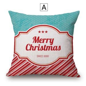 Frohe Weihnachten Kissenbezug aus Baumwolle und Leinen Minimalismus