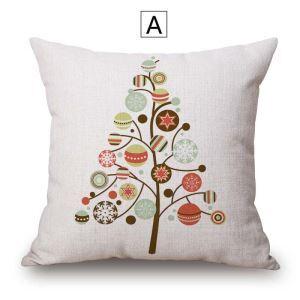 Minimalismus Kissenbezug Weihnachten Motiv aus Baumwolle und Leinen