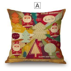 Süße Kissenbezüge Weihnachten Motiv aus Baumwolle und Leinen