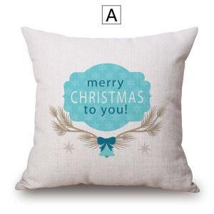 Kissenbezug Weihnachten Motiv aus Baumwolle und Leinen Minimalismus