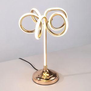 Led Tischlampe aus Aluminium Floral Design