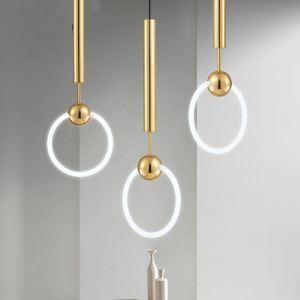 Led Pendelleuchte Ring Design aus Glas 1 flammig