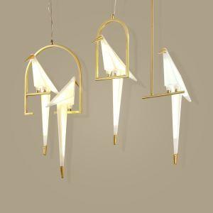 Led Pendelleuchte Modern Vogel Design 1 oder 2 flammig