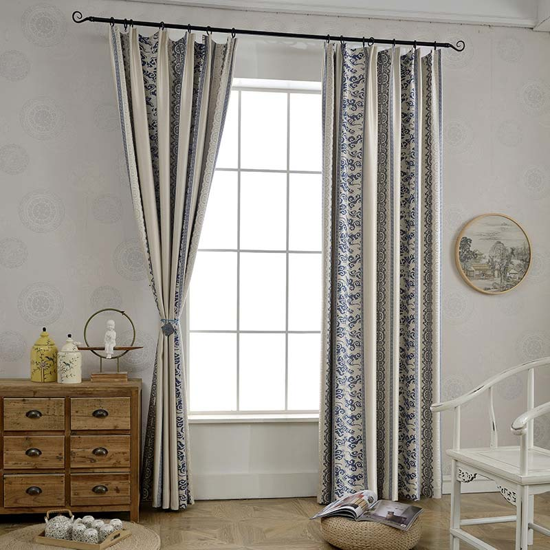 Vorhang Verdunkelung Geometrisch Design für Schlafzimmer