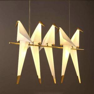 Led Pendelleuchte Modern Vogel Design in Weiß