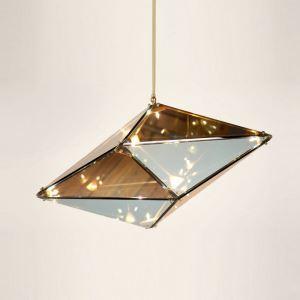 Hängeleuchte Modern Glas Geometrisch Design im Schlafzimmer
